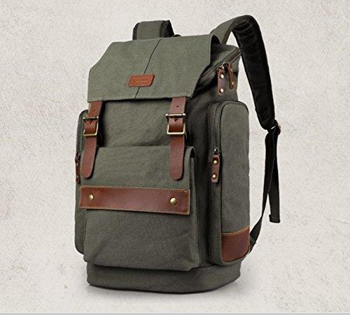 Otomoll Retro Mode Canvas Umhängetasche Rucksack Tasche Mit Großer Kapazität, In Farbe (Canvas Baguette)