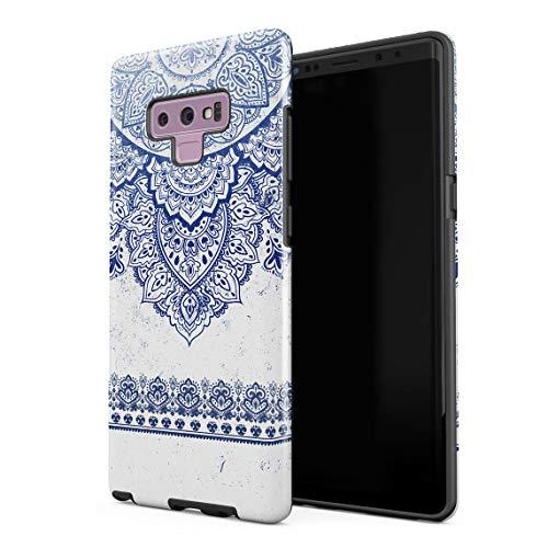 Cover Universe Hüllen für Samsung Galaxy Note 9 Hülle, Henna Crimson Blue Ornamented Mandala stoßfest, zweilagig mit Hardcase aus PC + Hülle aus TPU, hybride Case Handyhülle 9530-snap