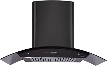 Elica Kitchen Chimney Auto Clean Touch Control With Baffle Filter 90 Cm, 1200 M3/H (Osb Hac Touch Bf 90 Black)