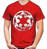 Empire Destroy Männer und Herren T-Shirt   Star Wars Yoda Vintage Darth Vader Imperium Kult (M, Rot)