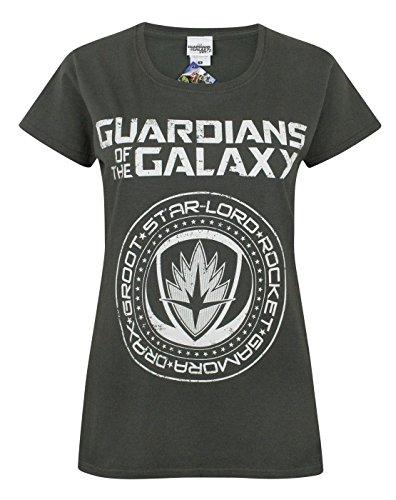 Guardians of the Galaxy Vol 2 Crest Women's T-Shirt (L) (Crest Vanille)
