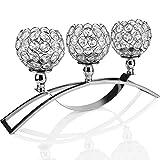 TianranRT Kristall Kerzenständer Hochzeit/Urlaub/Grundstück Menschen Geschenk Dekoration 17 Zoll (Silber)