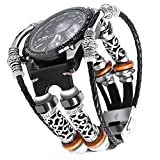 Gear S3 Bracelet en cuir Noir,Samsung S3 Frontier Bande Remplacment,Vintage Bracelet...