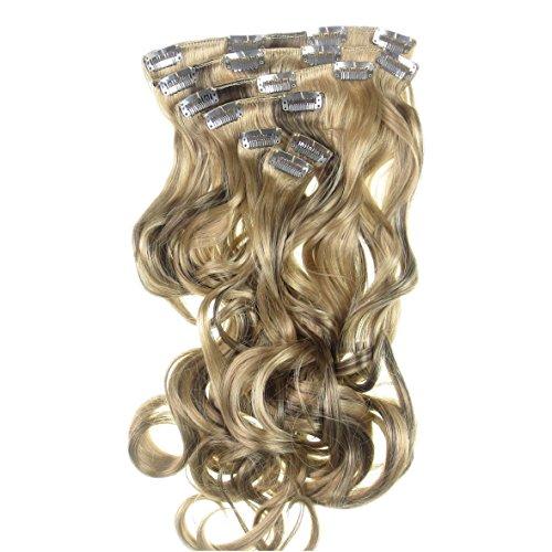 Alle Farben sind erhältlich, Sehr Echt Aussehende Wellige Gemischte Ash Blonde Haarverlängerungen. Extra Lange 60cm Länge Im Neuen Honigblond-braunen ()