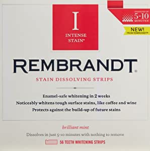 by Rembrandt Rembrandt Intense Stain Dissolving Strips, 56 Count by Rembrandt