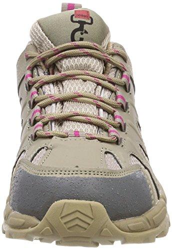 Doggo Unisex-adults Luna Trekking & Hiking Shoes Beige (taupe / Fucsia)