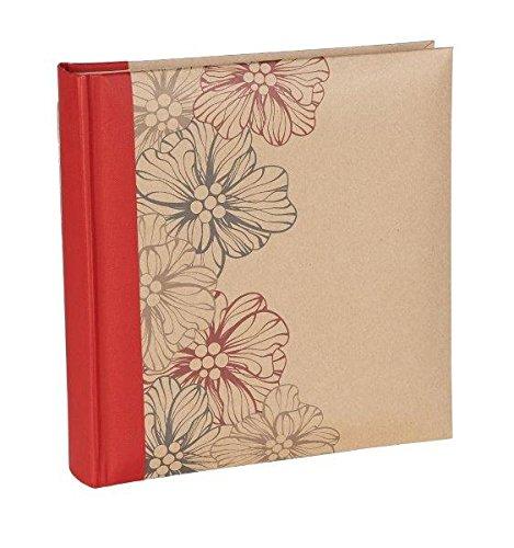 kr1664rdsi kraftline in rot für 160Fotos 4x 6(10x 15cm) Foto Album mit Uni Papier Seiten mit zwei Foto Einsteckalbum Abschnitten auf jeder Seite. Polypropylen Schutzhüllen.