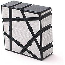 Wings of Wind - Ghost Cube 1X3X3 Cubo mágico, velocidad y rompecabezas liso Magic Cube (Plata)