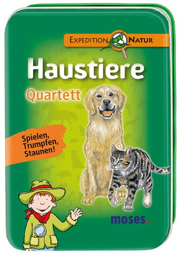 Preisvergleich Produktbild Moses 9686 - Expedition Natur Quartett Haustiere
