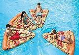 Flotador Inflable Adultos Tumbona De La Piscina con Válvulas Rápidas Deportes Acuáticos De Verano Tubos De Balsa Juguetes Fiesta De Natación En La Playa Pizza Slice Air Mat 69