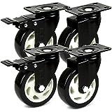 H and S 4 resistente 100 mm PU ruedas giratorio - 600 kg