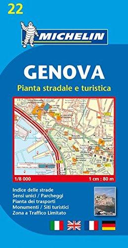 Michelin Genova: Stadtplan 1:8.000 (MICHELIN Stadtpläne, Band 22) -