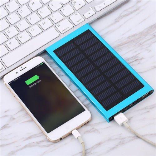 50,0000mAh Solar Externer Blue Power Bank Pack portable akku Ladegerät Mobile UK - Portable Solar Power Packs