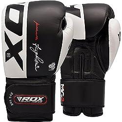 RDX Guantoni Boxe Ace Muay Thai Guanti da Sacco Sparring Allenamento Kickboxing vera Pelle vacchetta Boxing Gloves Pugilato