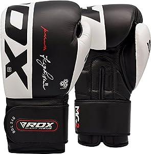 RDX Boxhandschuhe Rindsleder Gel Sparring Stanzen Handschuhe Trainings Muay...