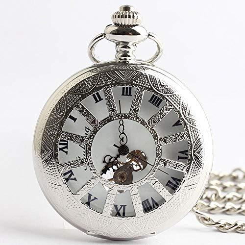 gurrdygdy Neu Silber Mode hohl zurück Retro mechanische Uhren Männer Damen Antik Taschenuhren Schätze