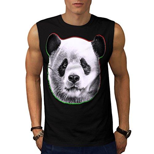 cracked-wood-panda-timber-style-men-new-black-xl-sleeveless-t-shirt-wellcoda
