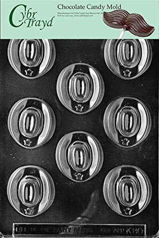 Cybrtrayd K080 Cowboy Hats Chocolate Candy Mold with Exclusive Cybrtrayd Copyrighted Chocolate Molding Instructions