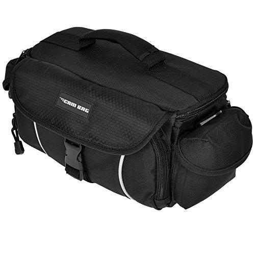 Kameratasche CAMBAG Fototasche Video D-SLR Kamera mit Wechselobjektive und Zubehör, Grösse M - XL Schwarz AUSWAHL (Halifax - L)