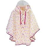 Kinder Regenmantel Poncho Umhang Stil Kinder Jungen Mädchen Baby Cape Studenten Tragbare Leichte Prinzessin Cartoon Regenjacken Regenbekleidung Rosa L