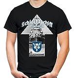 Schlachtschiff Bismarck Männer und Herren T-Shirt | Marine Schiff Deutsches Reich (L, Schwarz)