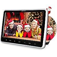 Pumpkin Reproductor DVD CD Coche con 10.1 Pulgadas Pantalla Multimedia soporta USB/Tarjeta SD