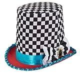 Fancy Me Damen Herren Kariert Verrückter Hutmacher Alice im Wunderland-Tea-Party Kostüm Hut Outfit Accessoire