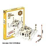 3D Puzzle Jigsaw Gebäude Kinder Spielzeug weltberühmte Architektur (Mini Taj Mahal 39 Teile)