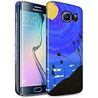 STUFF4 Matte Duro Snap On Custodia/Cover/Caso/Cassa del Telefono per Samsung Galaxy S6 Edge / Blu Marina / Tramonto Pittura a Olio disegno