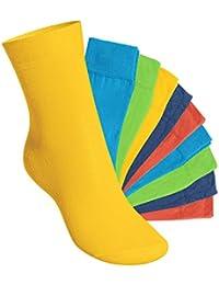 Footstar! Kinder Mädchen/Jungen - EVERYDAY!-KIDS - 10 Paar Kinder-Socken - Baumwolle, trendige Farben - Größen 35-50