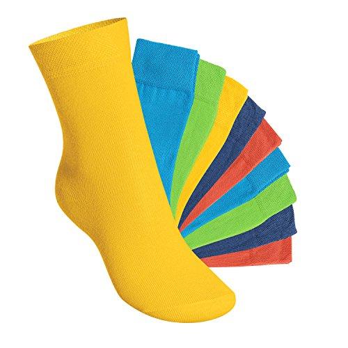 10 Paar EVERYDAY! KIDS Kinder Socken für Mädchen & Jungen Trendfarben-27-30