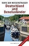 Karte der Wasserstraßen: Deutschland und Beneluxländer -