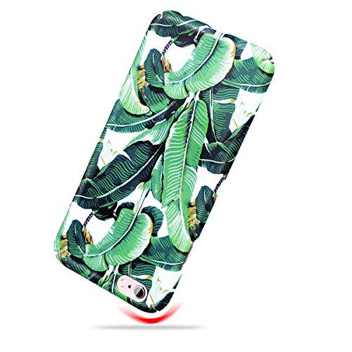 GrandEver iPhone 6/iPhone 6S Hartschale Hülle Schutz Hardcase Bananenblätter Muster Einfarbig Rückschale Schutzhülle Bmper Hardskin Klar Dünne Ultra Slim Rückseite Clear Case Cover Handy Tasche Premiu Color E