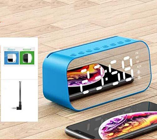 CE-LXYYD M3 Wireless 4.2 Bluetooth-Lautsprecher, Mini-Übergewichts-Subwoofer, Spiegelwecker, kleine Stereoanlage, 10m barrierefreier Anschluss,2200blue Bin Wasserdicht Radios