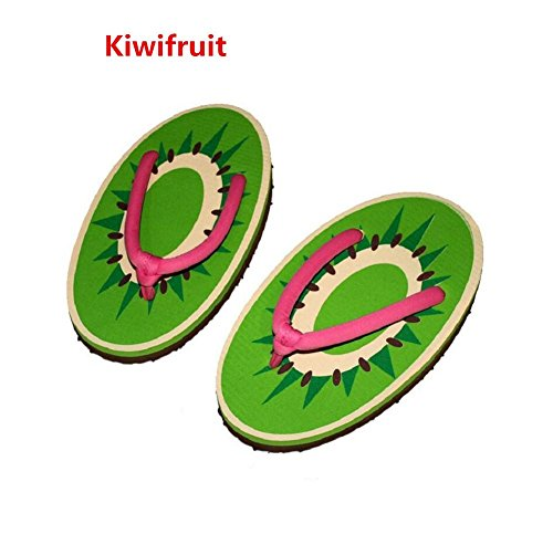 YYHSO Set Flip Flop Adulti Unisex - (set di 2) Pattini Cool Fruit Cartoon / One Size 35-38 , orange kiwifruit