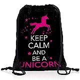 style3 Keep Calm and be a Unicorn Rucksack Tasche Turnbeutel Sport Jute Beutel Einhorn, Rucksack FARBE:Motiv 3