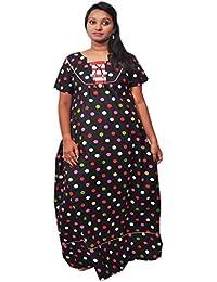 AISNIGHA Womens a deep 5078 multi Print Cotton Nighty