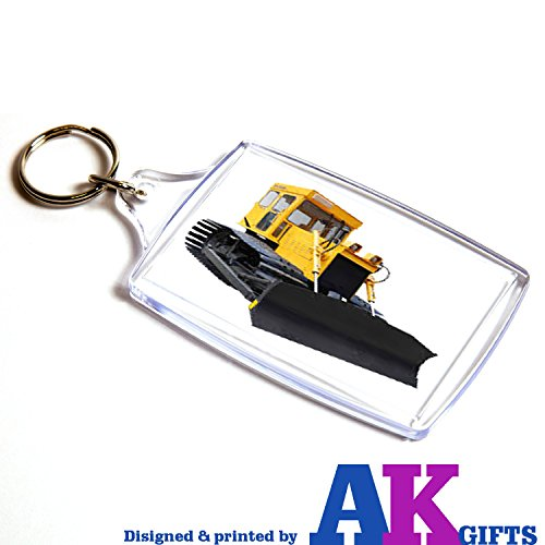 Bulldozer CAT JCB Double Sided Keyring Birthday Gift Stocking Filler