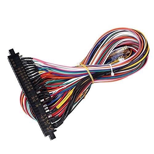 Loveinwinter 56-poliges Multicad-Kabel Für Arcade-Karten Für Arcade-Automaten, 60-in-1-Videospielkonsolen (60 Einem In Arcade)