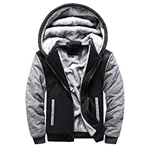 Oasics Wolle Hoodie Winter warme Herrenjacke Wolle Reißverschluss Pullover Mantel Jacke Hemd Hosenanzug M-5XL