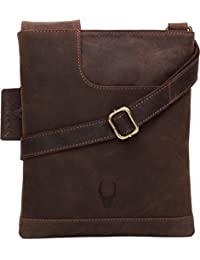 WildHorn Leather 21.59 cms Brown Messenger Bag (WHM207)