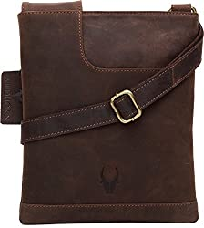 WildHorn Urban Edge Vintage Genuine Leather Cross body Messenger Bag