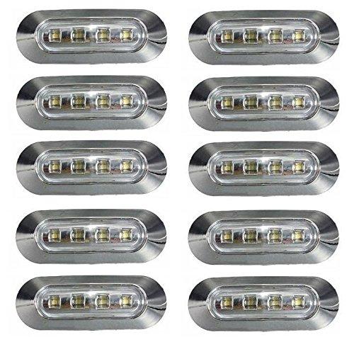 10-x-24-v-marcador-lateral-frente-esquema-led-blanco-luces-transparente-lentes-con-bisel-cromado-par