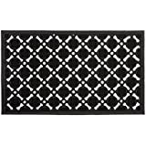 Relaxdays Doormat Rubber HBT: 0,5 x 75 x 45 cm Rubber Mat for Doormat/Door mat non-slip and can be cut to size Door mat Weatherproof Outdoor Entrance Mat Doormat & Function (Black)