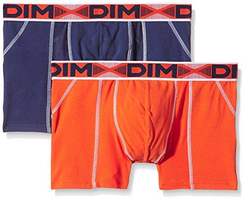 Dim 3D Flex Air, Pantaloncini Uomo, Bleu Nuit/ Orange Feu, S (pacco da 2 )