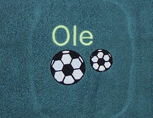pinkeSterne ☆ Kita-Handtuch Kindergartenhandtuch 30x50cm Fußball