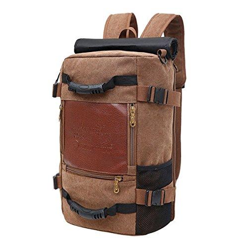 Rucksack Männlichen Koreanischen Leinwand Rucksack Multi-Funktions-große Kapazität Reisetasche Gezeiten Freizeit Outdoor-Bergsport Tasche Sport Männer,D-50*20*30cm