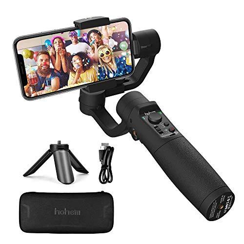 Smartphone Gimbal Stabilisator - Hohem 3-Achsen Handy Gimbal Stabilizer mit Live-Videoaufnahme, Sportmodus, Zeitrafferaufnahme usw. 3600mAh Akku, Wasserdicht, für iPhone XR/XS/11, Samsung, Huawei
