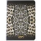 Just Cavalli Booklet Slim - Funda con cierre magnético y función soporte para Apple iPad Air 2, leopardo