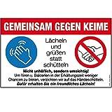 Warnschild - GEMEINSAM GEGEN KEIME - Gr. ca. 30 x 19 cm - 309169